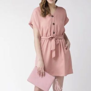 Streetwear Society Button Up Pink Dress